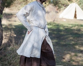 Ready to ship! Men's Undertunic; Viking Shirt; Medieval Linen Undertunic;