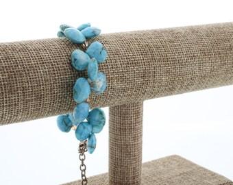 Genuine Tear drop Turquoise Bracelet