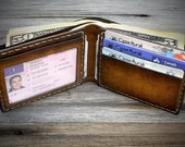 Minimal Wallet for men. Mens minimal leather wallet. Minimalist bifold wallet. Real leather wallet. Thin, smart, small, slim size wallet.