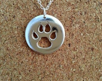 Cat Paw Pendant, Cat Jewelry, Cat lover jewelry, Cat Gift, Pet lover Jewelry