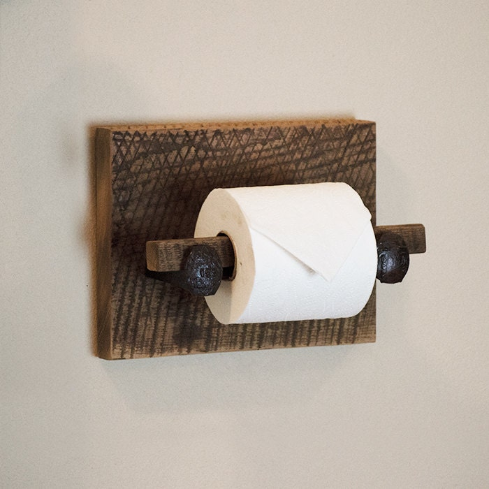 Barn Wood Toilet Paper Holder Rustic Toilet Paper Hanger With: wood toilet paper holders