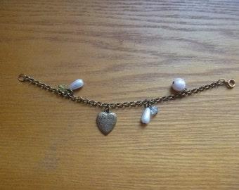 charm bracelet with heart, Valentines