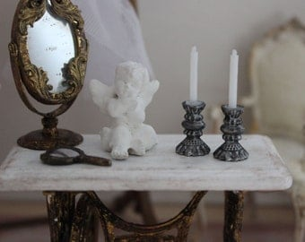 Candle stick, dollhouse miniature, scale 1:12