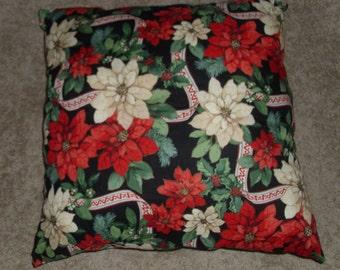 pointsetta pillow