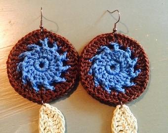 Dreamcatcher Inspired Crochet Earrings