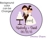 Personalized PRINTED bride and groom sticker wedding stickers save the date stickers wedding labels bride and groom labels