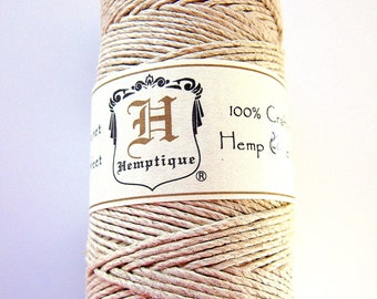 Hemp Cord 1mm Natural 205 ft bulk Reel Twine Ivory White String Beading Wholesale Jewelry Supplies supply Kumihimo Macrame CrazyCoolStuff