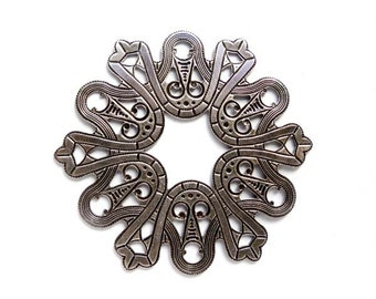1 Oxidized Silver Decorative Stamping - 1-AS-9