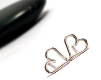 Silver Heart Stud Earrings | Sterling Silver Heart Stud Earrings | Bridesmaid Gifts |  | Heart Jewellery UK