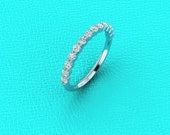 14K white gold 2mm shared prong band