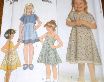Simplicity 8596  Bobbi's BabiesSundress and Jacket Pattern 3,4,5,6 Uncut