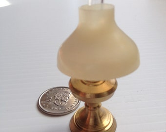 Brass Miniature Dollhouse figurine furniture collectable - oil lamp