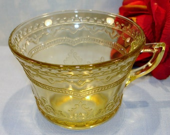 Patrician or Spoke by Federal Amber Depression Glass Cup