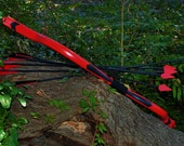 Red Arrow Recurve Bow with 10 Cosplay Arrows