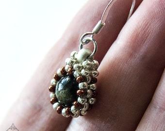 Tiny Obsidian Earrings