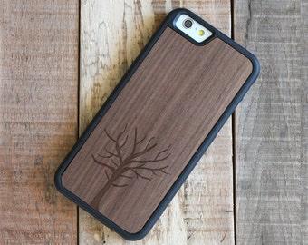 Wood iPhone 6 Case, iPhone 6s Wood Case, Walnut iPhone 6/6s Case - Tree - SHK-W-I6-TREE