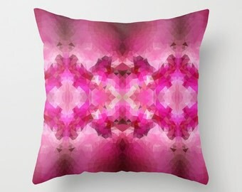 Cushion Covers Pillow Cover Pillow Case Designer Throw Decorative Throw Geometric Pillow Art Cover Pillow Accent Pillow Pink Pillow 18x18