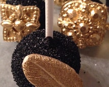"""12 Cake pops """"Great Gatsby"""" themed"""