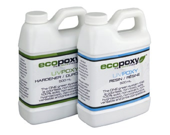 Ecopoxy UV. 1 L You have found a safe, Environmentally Friendly, Low Odor, Plant based Epoxy. Needs no ventilation. Casting Resin.
