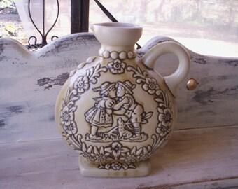 Vintage ceramic flower vase/Vineger cruet/Floral decor ceramic jar/Valentine Ceramic jar/1986 ceramic jar/WV Pfullingen/Mothers day gift