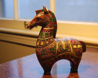 Hand-painted clay horse (Mexcian?)