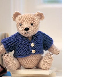 knitting pattern for babies first bear toy size 15cm