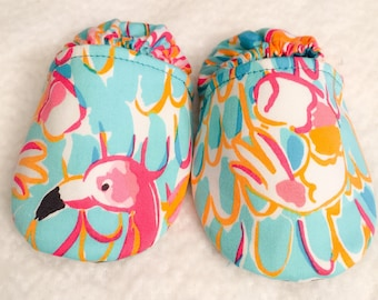 "Lilly Pulitzer ""Multi-peel and Eat"" Fabric Shoes - Choose a size"