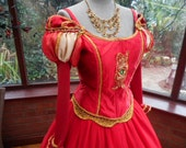 Handmade Tudor Anne Bolyne princess stage party gown medieval queen