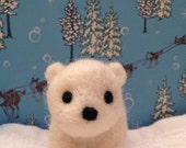 Needle Felted Polar Bear (available as tree ornament)