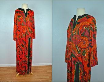 1960s Maxi Dress, Vintage Maxi Dress, Fall Vintage Maxi Dress