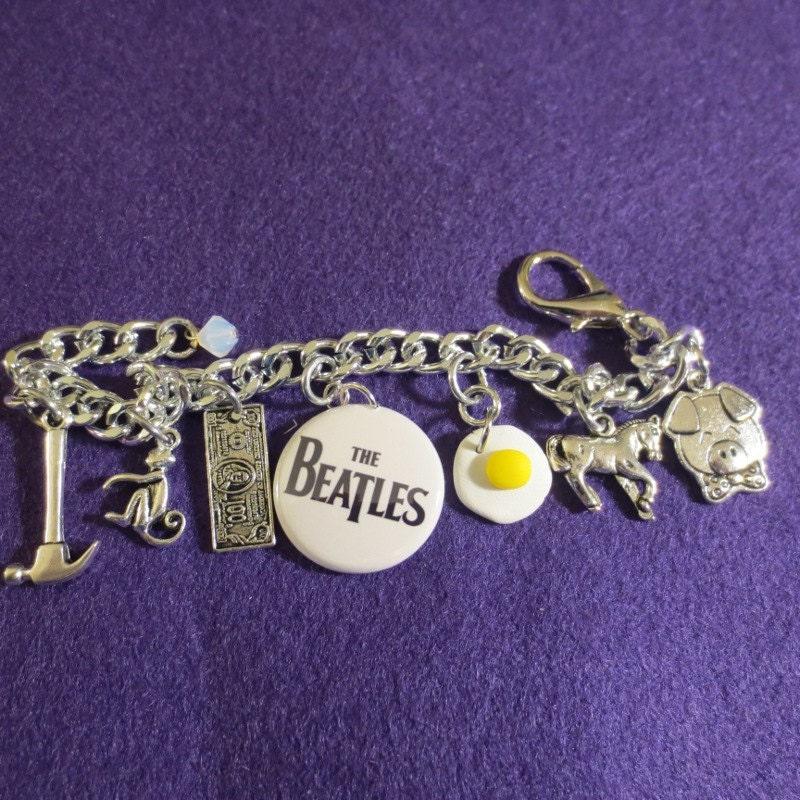 Beatles Charm Bracelet: Beatles MEMORY Bracelet By SharynKBeatlecrafts On Etsy