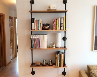 popular items for pipe shelves on etsy. Black Bedroom Furniture Sets. Home Design Ideas