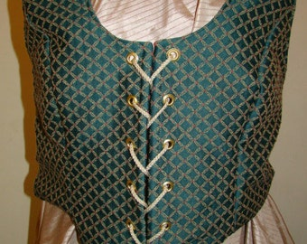 Historical Woman's Renaissance Vest New for Faire/Pirate/Wench/Peasant/Theater