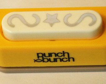 Star Border Punch with Swirls On Each Side Paper Punch