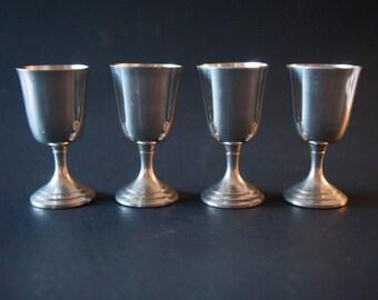 Pewter Shot Glasses (Set of 4)