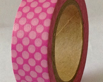 """SALE Washi Tape """"Lotty Dotty"""" in Pink   10 Meters"""