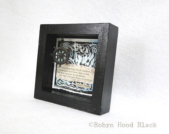 Mini Mixed Media Sailors Were Born for all Weathers Framed to 4 X 4