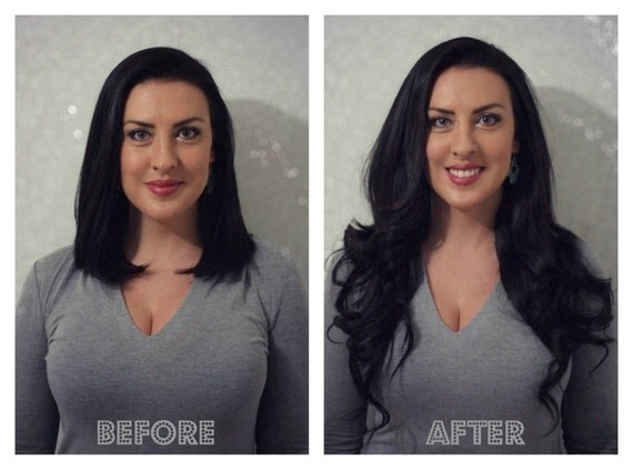 """HEAVENLY HALO (10"""" Length) - Clip-less, One Piece, Flip In Hair Extensions"""