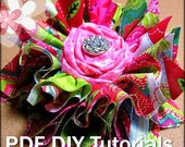 Shabby Chic Fabric Flowers Tutorial / DIY Fabric Flowers / How to make NO SEW shabby chic flowers instructions
