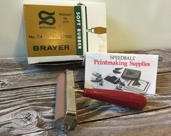 "Vintage  Brayer #74 Speedball 3 1/2"" NEW Roller Ink Stamping, Painting, Scrapbooking, Printing, Crafting"