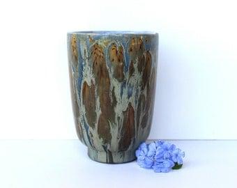 Beautiful Ceramic Vase, Copper & Blue Glaze