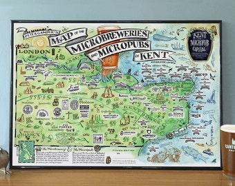Breweries & Micropubs Map of Kent