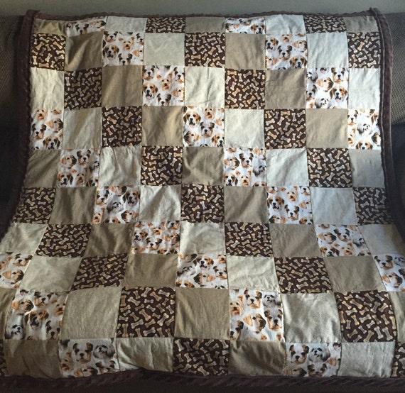 Realistic Dog Themed Patchwork Lap Quilt Beagle Lap Quilt