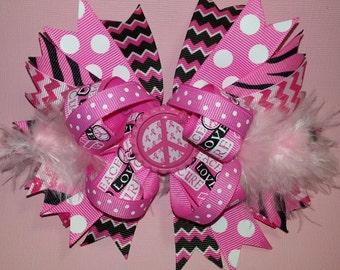 Pink Awareness Bow