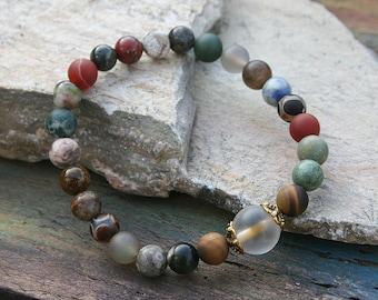Beautiful gemstone wrist mala bracelet