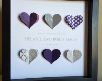 Paper Heart, 3D Paper Art, perfect for a wedding or anniversary, customize with you colors