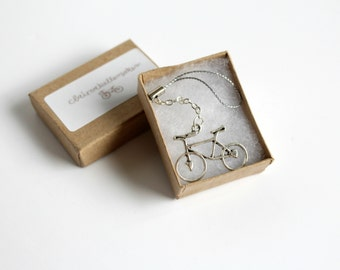 Silver Bicycle Planner Charm, Bicycle Mobile Phone Charm, Cell Phone Charm, Stocking Filler, Stocking Stuffer