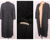 RESERVED 1960's Raffia Crochet Jacket // Vintage Duster Jacket // Bohemian Outerwear (one size)