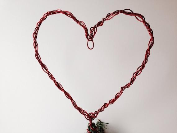 Messy Heart Christmas Tree Topper Aluminum