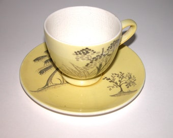 Rare At Deco Royal Winton Grimwades Art Deco Coffee cup and saucer